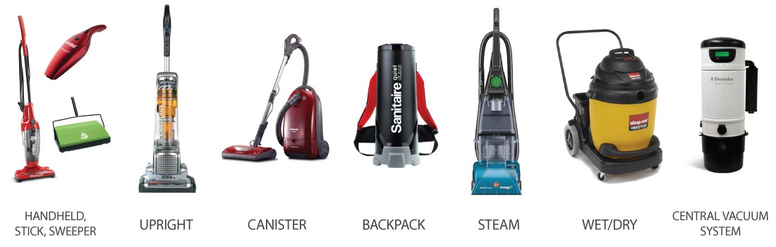 Types of Commercial Vacuum Cleaners