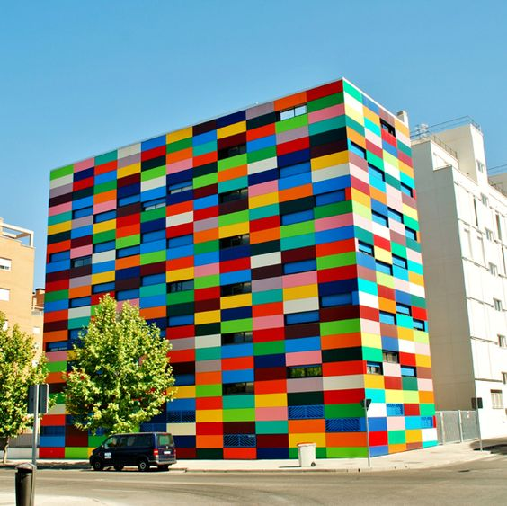 contemporary building blocks color blocked architecture