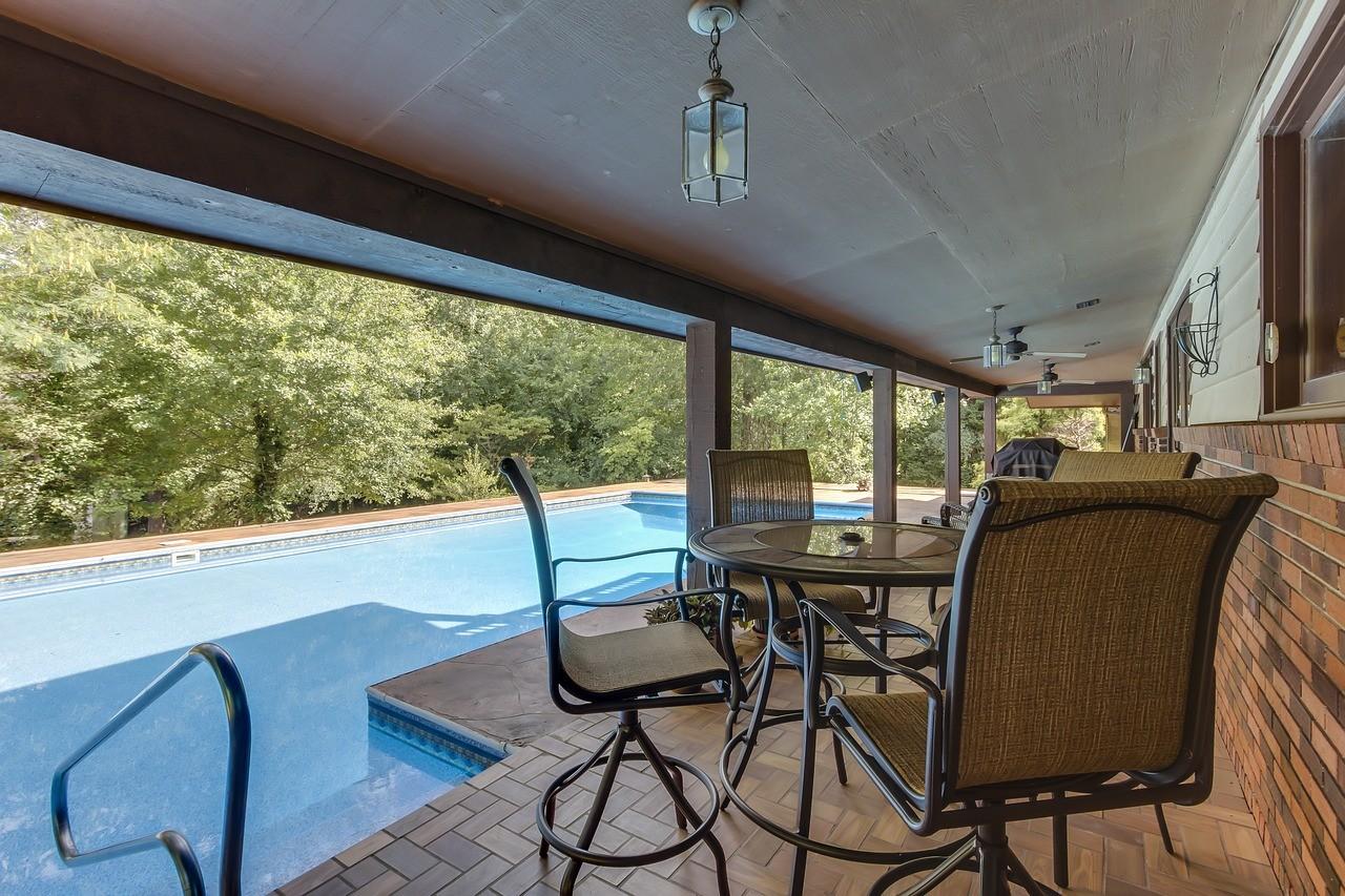 pool backyard deck