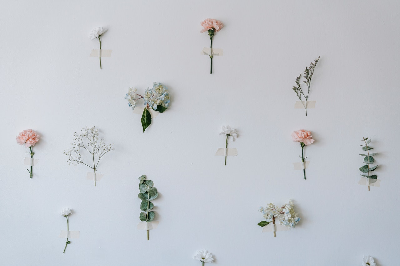 Floral in the wall